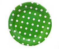 Тарелки одноразовые 180мм 10шт в упаковке Camis Горошек в ассортименте 002-23