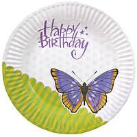 Тарелки одноразовые 180мм 10шт в упаковке Camis Happy Birthday в ассортименте 002-3