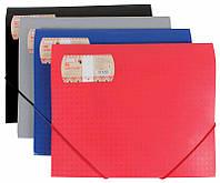 Папка А4 Optima на резинках пластиковая Вышиванка Office line, цвет в ассортименте O30691