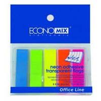 Стикеры-закладки пластиковые 5цв.*25л. Economix 20945
