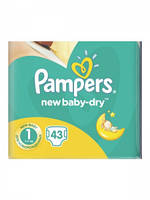 Подгузники Pampers  New Baby 1 Newborn (2-5 кг) 43шт