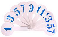 Веер пластиковый цифровой Числа 1-20 (1шт) E32214