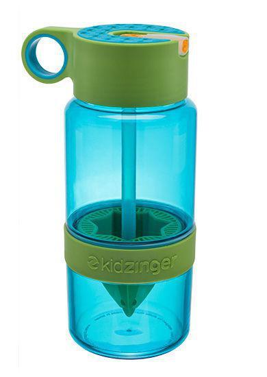 Бутылка для воды с поилкой для самодельного лимонада 450 мл. Зеленая