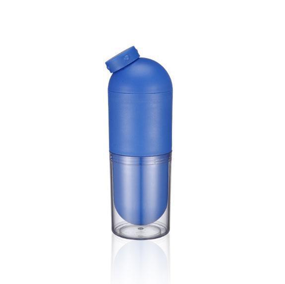 Бутылка для воды со стаканом 500 мл. Синий