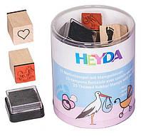 Набор штампов резиновых Baby, 15шт. + штемпельная подушка, Heyda 204888485