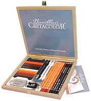 Карандаши чернографитные простые CRETACOLOR набор 25 предм в дер. кор. Passion Box 907140041