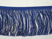 Бахрома танцювальна темно-синя (лапша, локшина) для одягу 15 см, тасьма 1 см, довжина ниток 14 см, фото 1