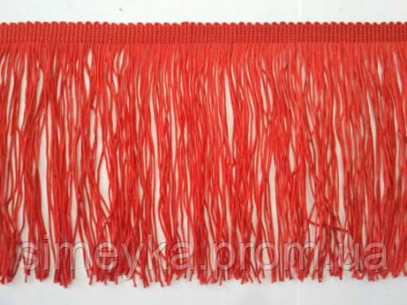 Бахрома танцювальна червона (лапша, локшина) для одягу 15 см, тасьма 1 см, довжина ниток 14 см
