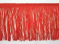 Бахрома танцювальна червона (лапша, локшина) для одягу 15 см, тасьма 1 см, довжина ниток 14 см, фото 1