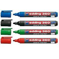 Набор маркеров сухостираемых 4шт Edding 360/4/BL