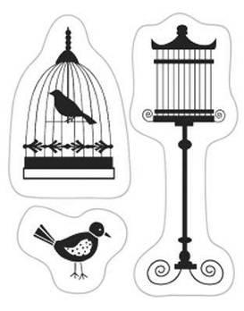Штамп акриловый  Клетка и птицы, размер: 5*6 см Knorr Prandell Heyda 2118831063