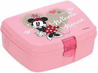 Ланч-бокс Herevin Disney Minnie Mouse 17х12х7см пластик, розовый