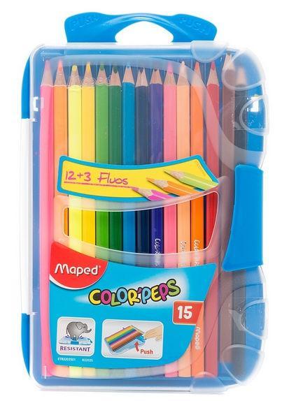 Карандаши цветные 15цв. Maped Smart Box в пенале 832035