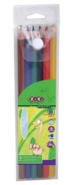 Карандаши цветные 6цв. ZiBi Protect ПВХ пенал ZB.2436