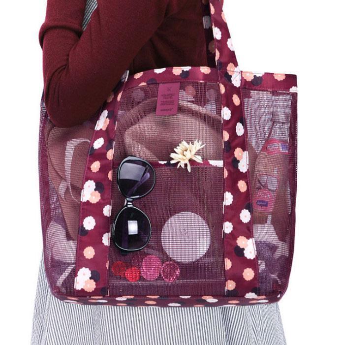 Літня сумочка для пляжу прогумована. Червоний.