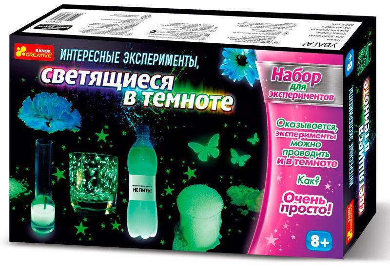 Игра научная Creative 0389-1 Интересные опыты которые светятся в темноте  12114021Р