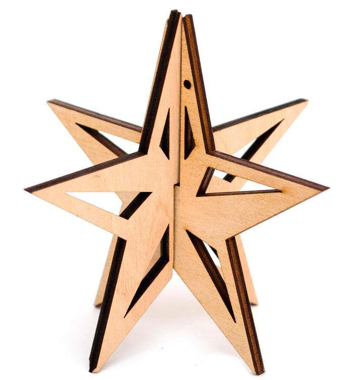 Заготовка для декорирования Rosa Talent (фанера) Звезда 3D 9,8х9,5см 4801487