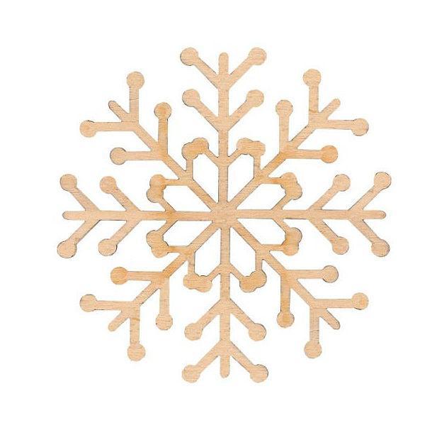 Заготовка  для декорирования Rosa Talent (фанера) Снежинка 1 Д10см 4801511