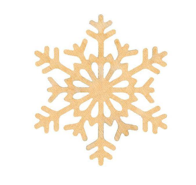 Заготовка для декорирования Rosa Talent (фанера) Снежинка 6 Д10см 4801516