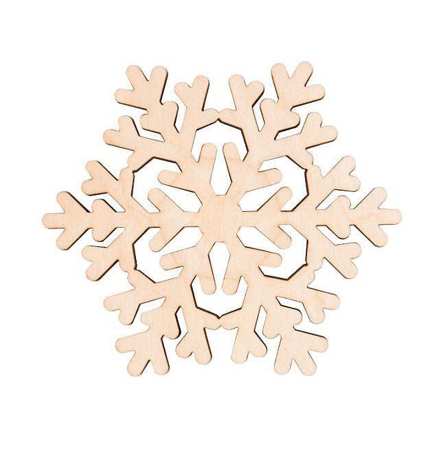 Заготовка для декорирования Rosa Talent (фанера) Снежинка 5 Д10см 4801515