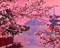 Картина раскраска по номерам на холсте 40*50см Babylon VP595 Японский пейзаж