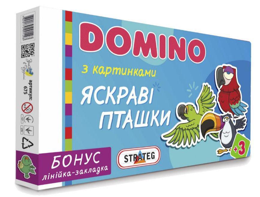 Игра Strateg Домино Яркие птички 675