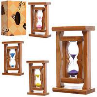 Деревянная игрушка Песочные часы, 15см, микс цветов, в кор. 9,5*15,5*5см