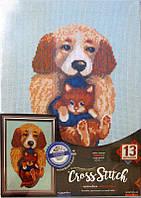 Набор для творчества DankoToys DT VKB-02-05 вышивка крестиком на канве на подрамнике