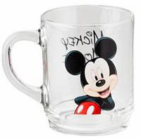 Кружка детская Mickey Mouse стеклянная 250мл для мальчика