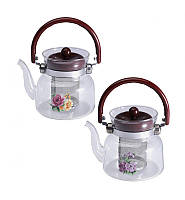 Чайник заварочный Wellberg Borosil 600мл стеклянный
