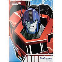Картон белый детский для поделок А4 Kite мод 254 Transformers двухсторонний TF17-254