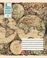 Блокнот для записей А5 60л. YES склейка Старинные карты 890872