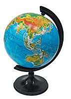 Глобус настольный диаметр 11см ТОП укр физический 210024