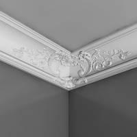Карниз(плинтус) потолочный с орнаментом Orac Decor C338B, лепной декор из полиуретана