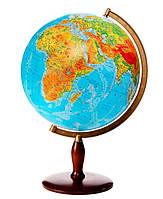 Глобус настольный диаметр 42см GLOWALA на деревянной ножке физический 8115