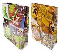 Пакет подарочный бумажный 23*30*8см 8061-2 Новогодний