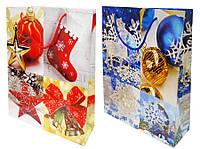 Пакет подарочный бумажный 28*34*9см 8061-3 Новогодний
