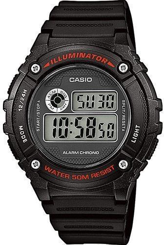 Наручные мужские часы Casio W-216H-1AVEF оригинал