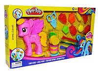 Набор для лепки Play-Toy My Little Horse пластилин с пресc формами 8007