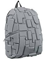 Рюкзак (ранец) школьный каркасный MadPax KZ24484285 Gray Blok мягкая спинка 46*36*20см