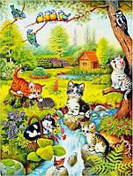 Картина раскраска по номерам на холсте 40*50см Babylon VP628 Игривые котята