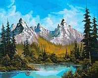Картина раскраска по номерам на холсте 40*50см Babylon VP654 Горное озеро