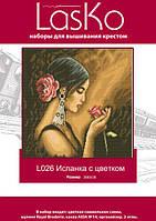 Набор для вышивания LasKo L026 Испанка с цветком