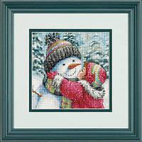 Набор для вышивания Dimensions 70-08833 Поцелуй для снеговика