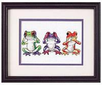 Набор для вышивания Dimensions 16758 Трио лягушек