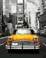 Картина раскраска по номерам на холсте - 40*50см Mariposa Q1249 Нью-Йоркское такси