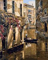 Картина раскраска по номерам на холсте 40*50см Babylon VP669 Старая Венеция