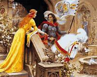 Картина раскраска по номерам на холсте 40*50см Babylon VP680 Ланселот и Гвиневера