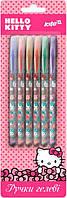 Ручки в наборе 6цв. KITE мод 037 гелевые с глитером Hello Kitty HK17-037
