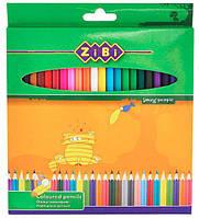Карандаши цветные 36цв. ZiBi ZB.2404